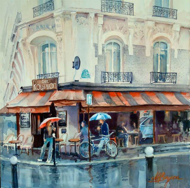French Restaurant Bar Cafe Bistro Paris Oil Painting products, buy