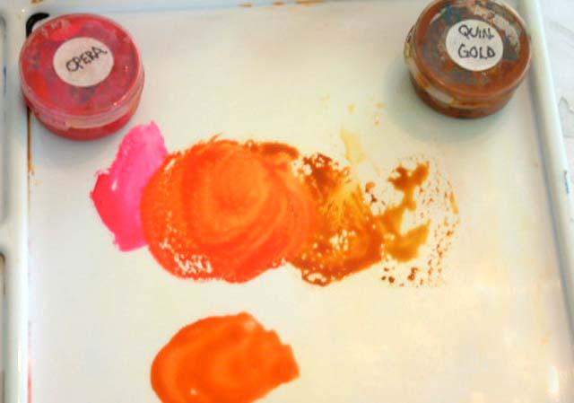 Mixing Colors Quinacridone Gold